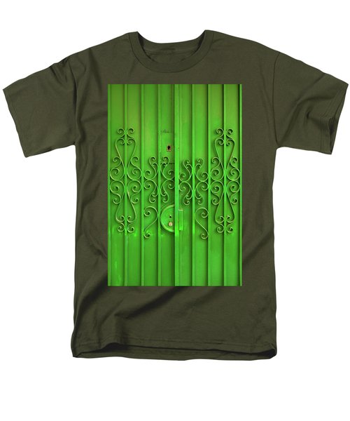Men's T-Shirt  (Regular Fit) featuring the photograph Green Door by Carlos Caetano