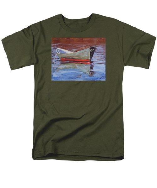 Green Dory Men's T-Shirt  (Regular Fit) by Trina Teele