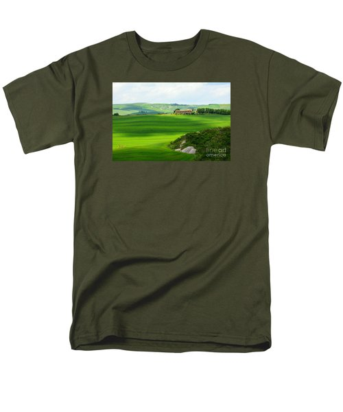 Green Escape In Tuscany Men's T-Shirt  (Regular Fit) by Ramona Matei