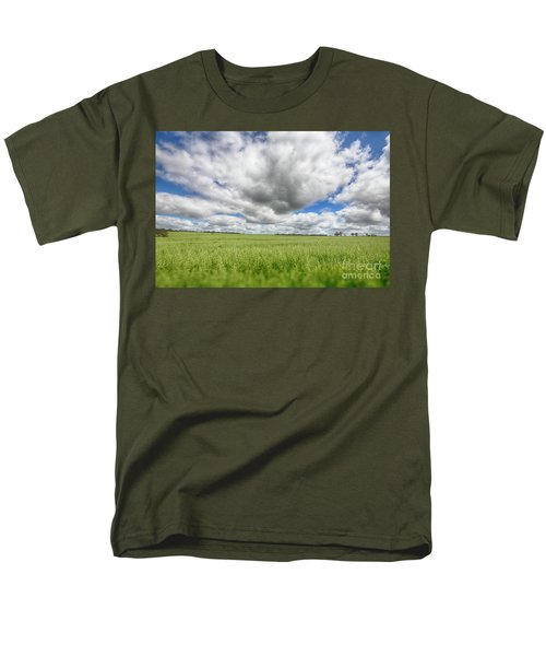 Men's T-Shirt  (Regular Fit) featuring the photograph Green Fields 2 by Douglas Barnard