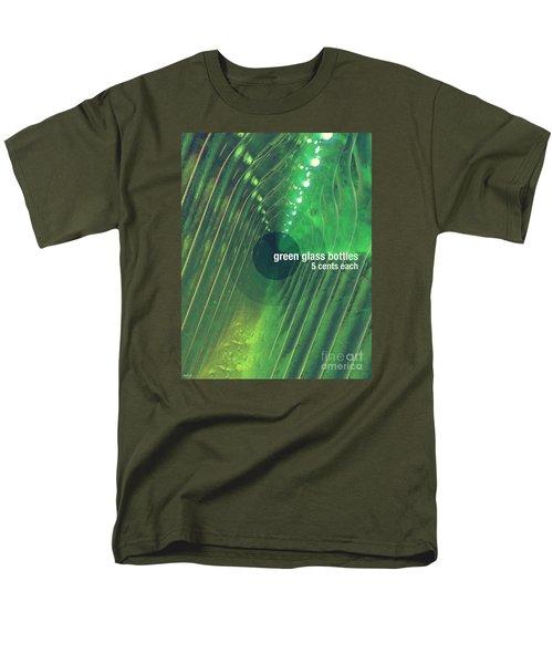 Men's T-Shirt  (Regular Fit) featuring the photograph Green Glass Bottles by Phil Perkins
