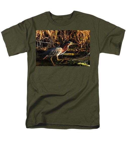 Men's T-Shirt  (Regular Fit) featuring the photograph Green Heron by Larry Ricker