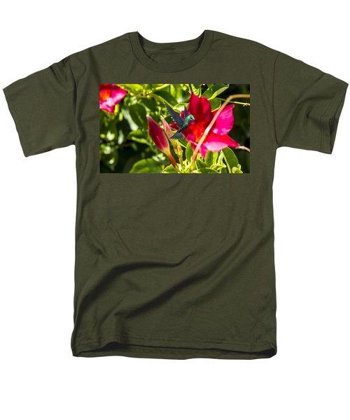 Green Hummingbird Men's T-Shirt  (Regular Fit) by Pat Cook