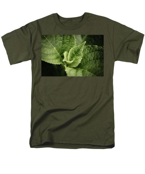 Men's T-Shirt  (Regular Fit) featuring the photograph Green Leaves Abstract II by Marco Oliveira