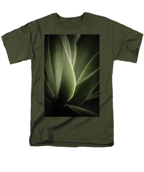 Men's T-Shirt  (Regular Fit) featuring the photograph Green Leaves Abstract by Marco Oliveira