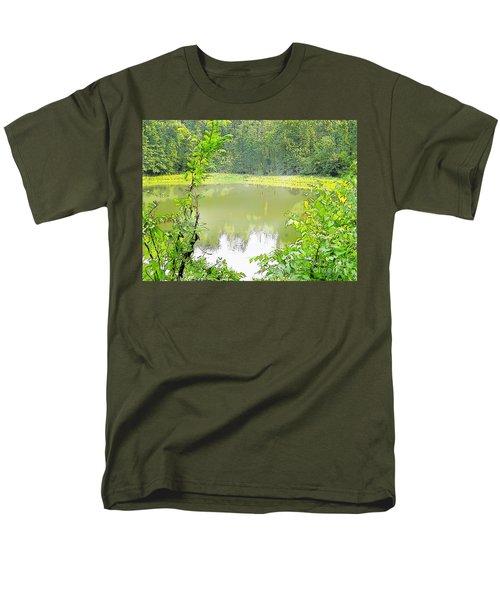 Green On Lake Men's T-Shirt  (Regular Fit) by Craig Walters