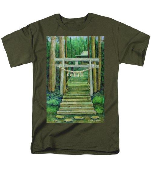 Green Stairway Men's T-Shirt  (Regular Fit) by Tim Ernst