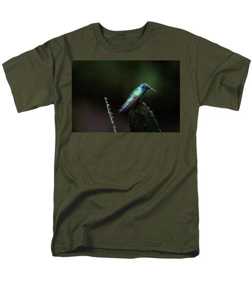 Green Violet Ear Hummingbird Men's T-Shirt  (Regular Fit) by James David Phenicie
