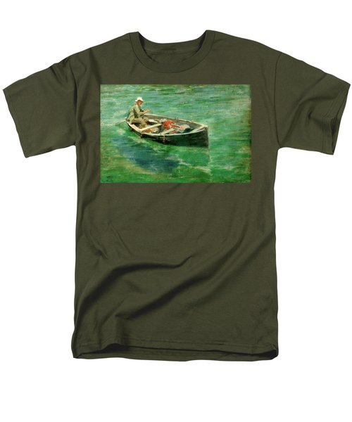 Men's T-Shirt  (Regular Fit) featuring the painting Green Waters by Henry Scott Tuke