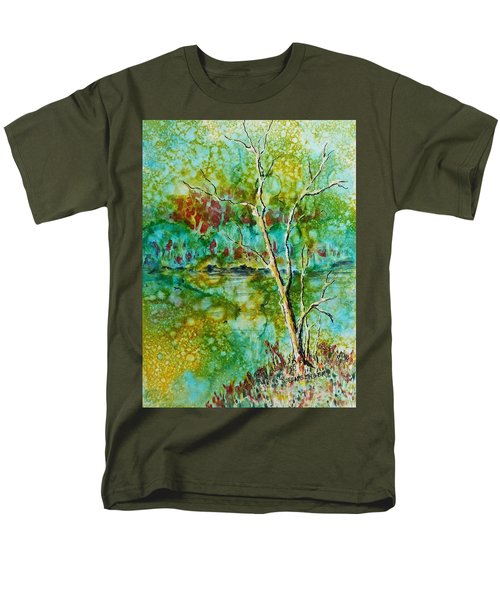 Men's T-Shirt  (Regular Fit) featuring the painting Greens Of Late Summer by Carolyn Rosenberger