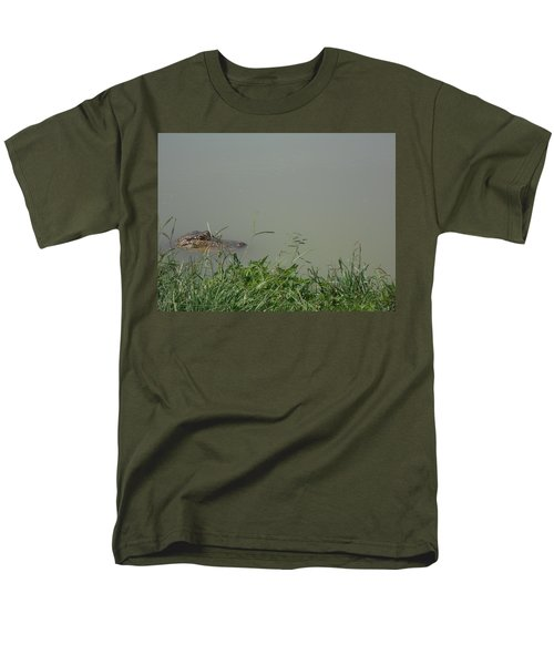 Greenwood Gator Farm Men's T-Shirt  (Regular Fit) by Cynthia Powell