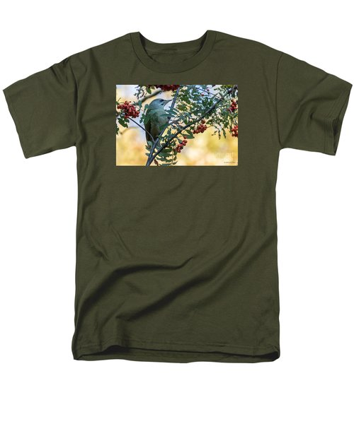 Men's T-Shirt  (Regular Fit) featuring the photograph Grey Headed Woodpecker Female by Jivko Nakev
