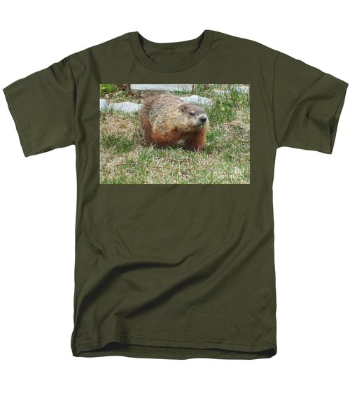 Groundhog Men's T-Shirt  (Regular Fit) by Vicky Tarcau