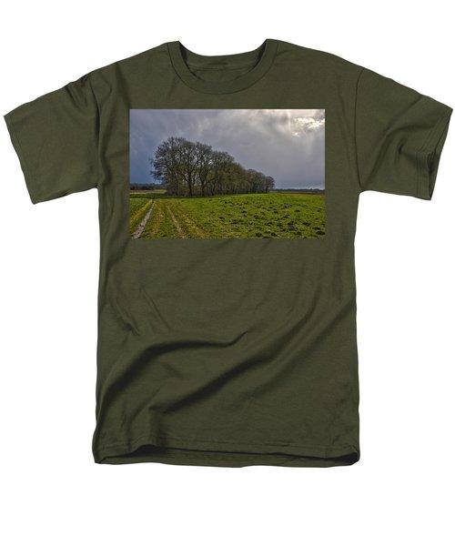 Group Of Trees Against A Dark Sky Men's T-Shirt  (Regular Fit) by Frans Blok