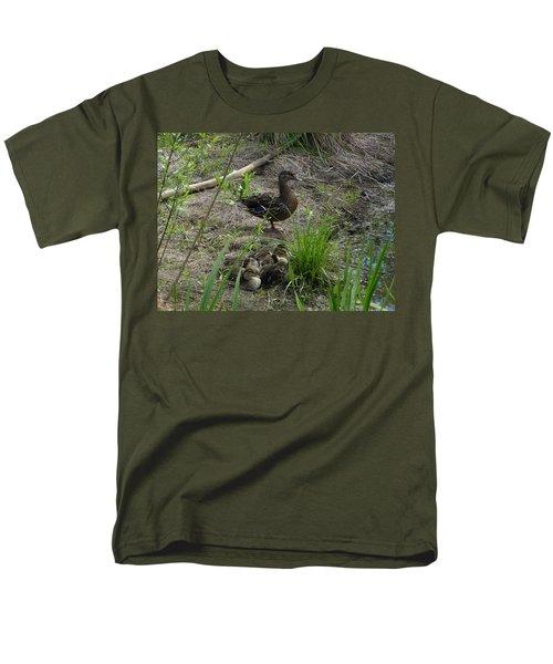 Guarding The Ducklings Men's T-Shirt  (Regular Fit) by Donald C Morgan