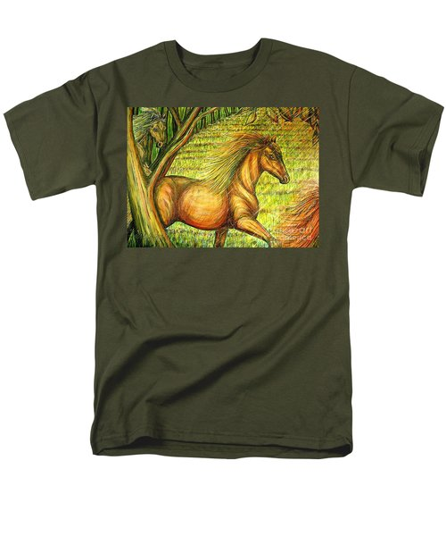 Guidance-out Of The Woods Men's T-Shirt  (Regular Fit) by Kim Jones