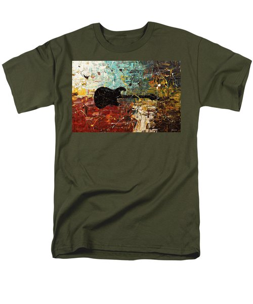 Men's T-Shirt  (Regular Fit) featuring the painting Guitar Story by Carmen Guedez