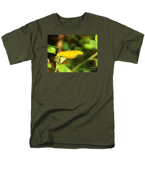 Gulf Fritillary Men's T-Shirt  (Regular Fit) by Audrey Van Tassell