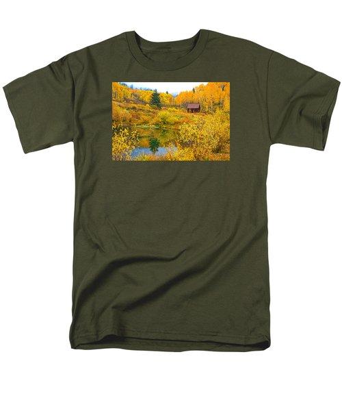 Gunnison Reflection  Men's T-Shirt  (Regular Fit) by Bijan Pirnia