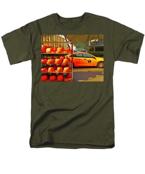 Halloween In New York  Men's T-Shirt  (Regular Fit) by Funkpix Photo Hunter