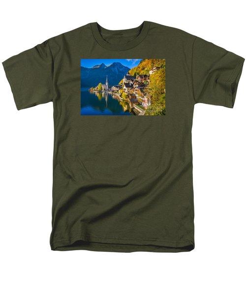 Hallstatt In Fall Men's T-Shirt  (Regular Fit) by JR Photography