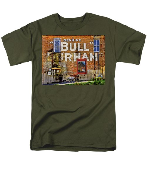 Men's T-Shirt  (Regular Fit) featuring the photograph Handpainted Sign On Brick Wall by David and Carol Kelly