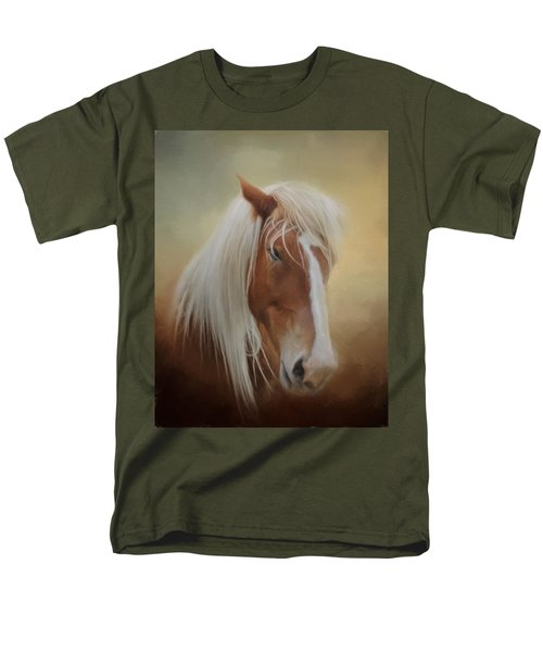 Handsome Belgian Horse Men's T-Shirt  (Regular Fit) by David and Carol Kelly