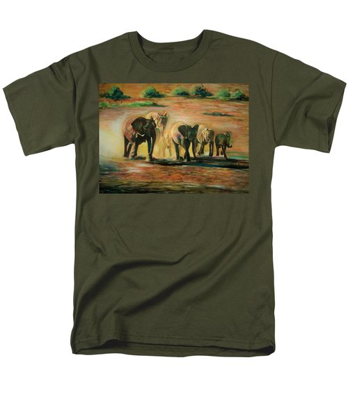 Happy Family Men's T-Shirt  (Regular Fit) by Khalid Saeed