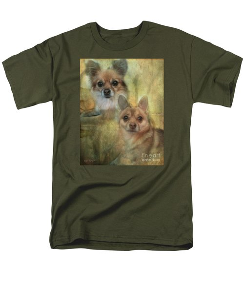 Men's T-Shirt  (Regular Fit) featuring the digital art Harley Girl N Bear by Rhonda Strickland