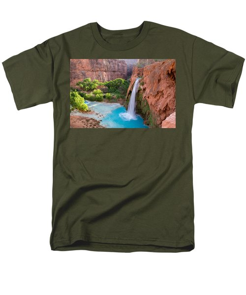 Havasu Falls, Arizona 2 Men's T-Shirt  (Regular Fit) by Serge Skiba