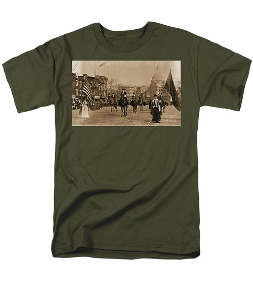 Head Of Washington D.c. Suffrage Parade Men's T-Shirt  (Regular Fit) by Padre Art