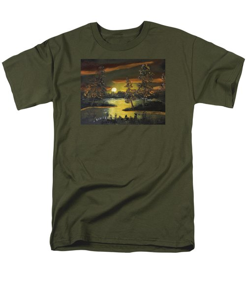 Headwaters Sunset 160115 Men's T-Shirt  (Regular Fit) by Jack G Brauer
