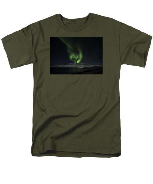 Men's T-Shirt  (Regular Fit) featuring the photograph Heart Of Northern Lights by Frodi Brinks