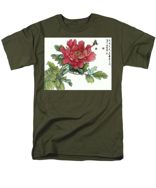 Men's T-Shirt  (Regular Fit) featuring the photograph Heavenly Flower by Yufeng Wang