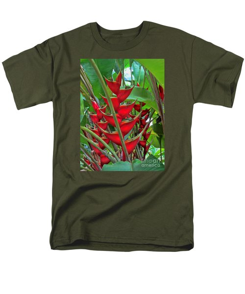 Heliconias Men's T-Shirt  (Regular Fit) by Steven Parker