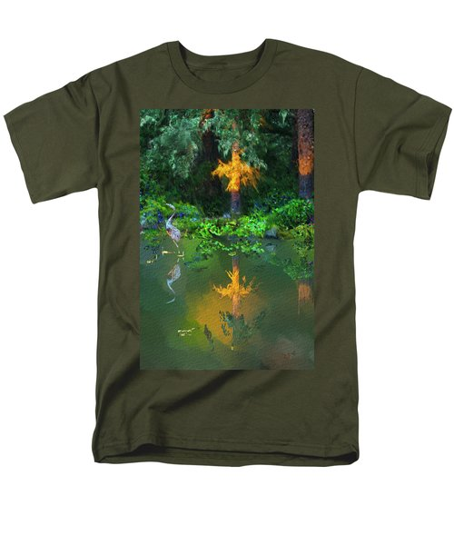 Heron Art Men's T-Shirt  (Regular Fit) by Dale Stillman