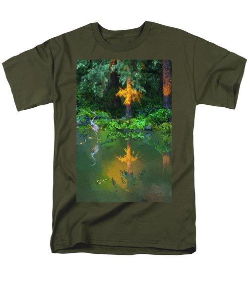 Heron Art Men's T-Shirt  (Regular Fit)