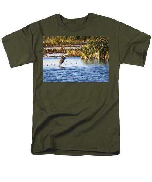 Heron - Horicon Marsh - Wisconsin Men's T-Shirt  (Regular Fit) by Steven Ralser