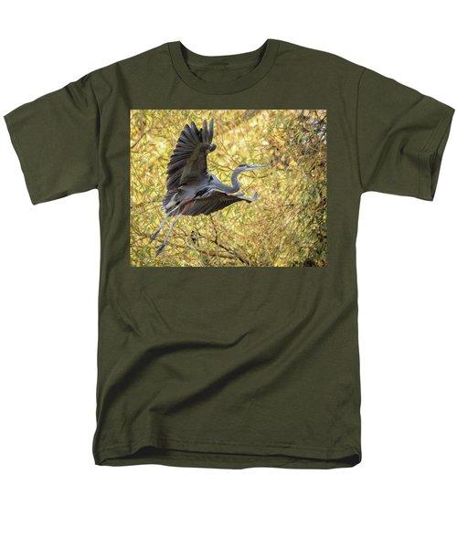 Heron In Flight Men's T-Shirt  (Regular Fit) by Keith Boone
