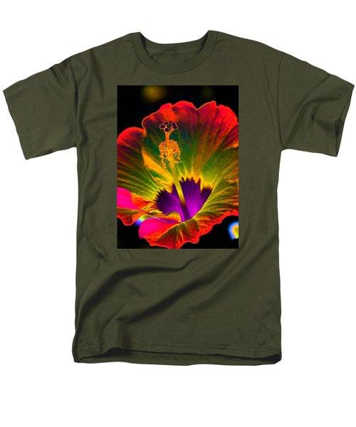 Hibiscus 01 - Summer's End - Photopower 3189 Men's T-Shirt  (Regular Fit) by Pamela Critchlow