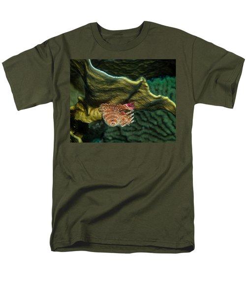 Hidden Christmastree Worm Men's T-Shirt  (Regular Fit) by Jean Noren