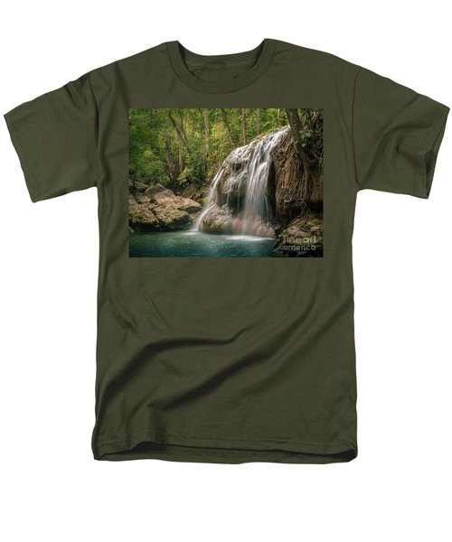 Men's T-Shirt  (Regular Fit) featuring the photograph Hidden In The Jungle Of Guatemala by Jola Martysz