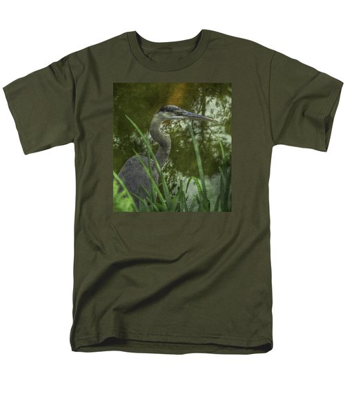 Men's T-Shirt  (Regular Fit) featuring the photograph Hiding In The Grass by Arlene Carmel