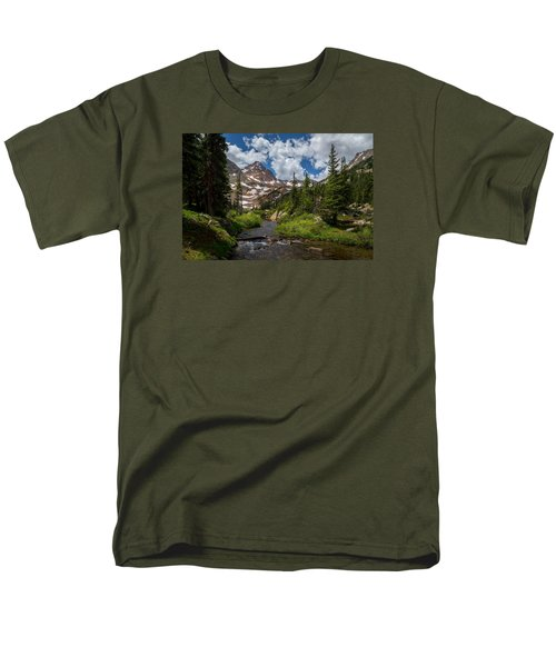 Hiking Into A High Alpine Lake Men's T-Shirt  (Regular Fit) by Michael J Bauer