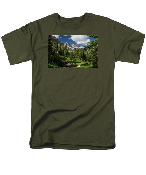 Hiking Into The Gore Range Mountains Men's T-Shirt  (Regular Fit) by Michael J Bauer