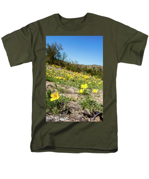 Hillside Flowers Men's T-Shirt  (Regular Fit) by Ed Cilley