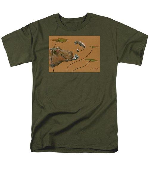 Hippo Bubbles Men's T-Shirt  (Regular Fit) by Juan  Bosco