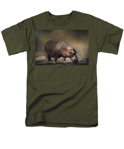 Men's T-Shirt  (Regular Fit) featuring the photograph Hippo by Charuhas Images