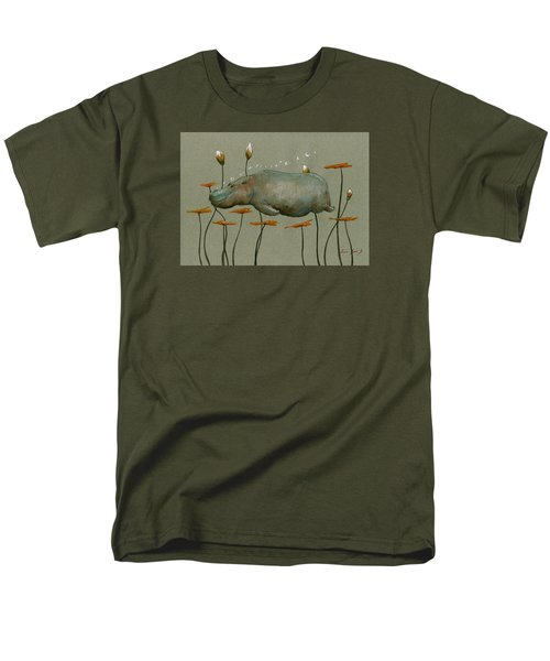 Hippo Underwater Men's T-Shirt  (Regular Fit) by Juan  Bosco