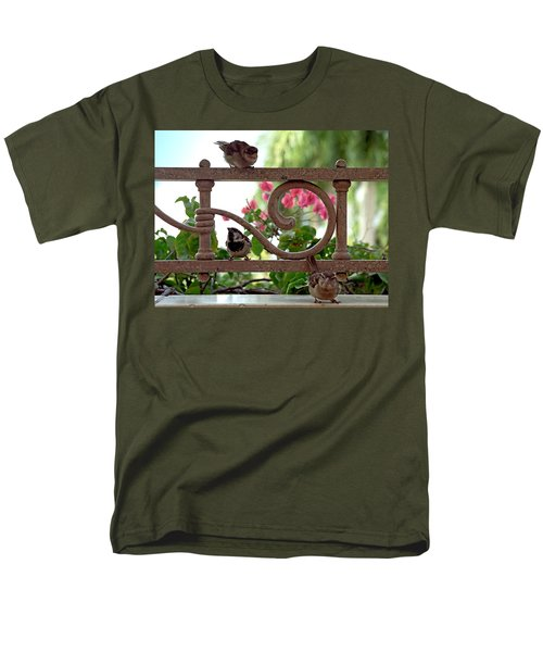 His Eye Is On The Sparrow Men's T-Shirt  (Regular Fit) by Marie Hicks